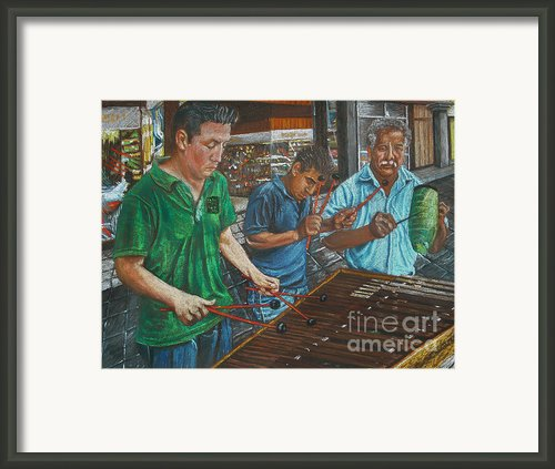 Xylophone Players Framed Print By Jim Barber Hove