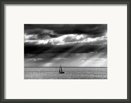 Yacht Sailing Just Off Brighton Beach Framed Print By Alan Mackenzie