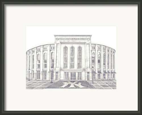 Yankee Stadium Framed Print By Juliana Dube