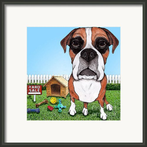 Yard Sale Framed Print By Stephanie Gerace