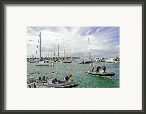Yarmouth Iow - Harbour Scene-01 Framed Print By Rod Johnson