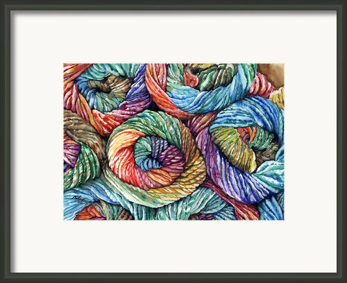 Yarn Framed Print By Nadi Spencer