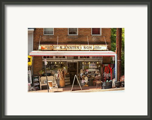 Yates Market Framed Print By Kenneth Losurdo