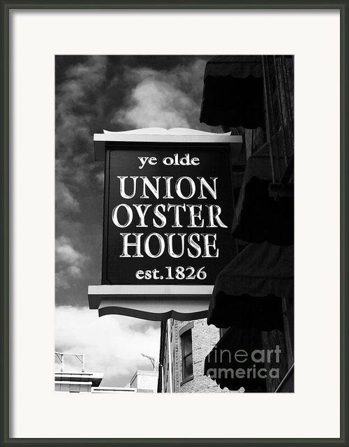 Ye Olde Union Oyster House Framed Print By John Rizzuto