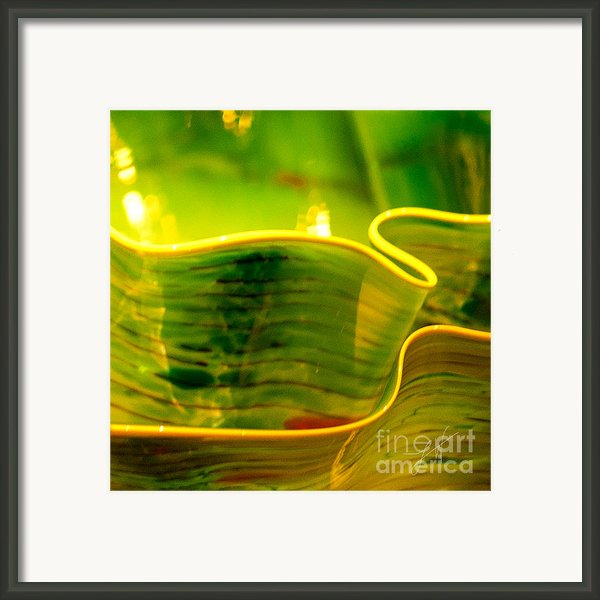 Yellow And Green Framed Print By Artist And Photographer Laura Wrede