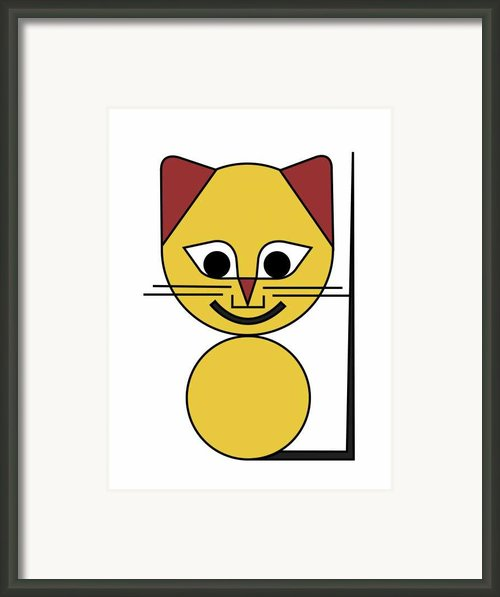 Yellow Cat Framed Print By Asbjorn Lonvig