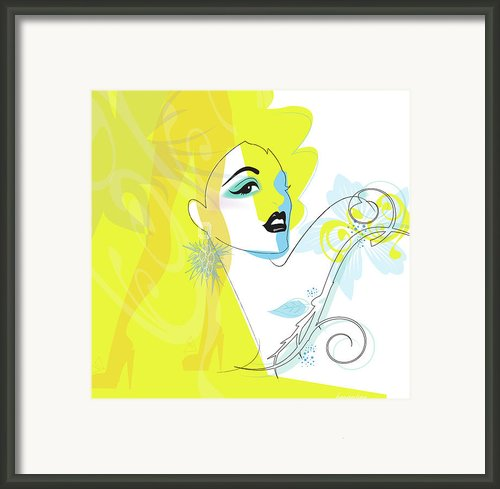 Yellow Face Framed Print By Lisa Henderling