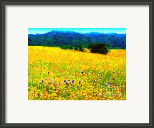 Yellow Hills Framed Print By Wingsdomain Art And Photography