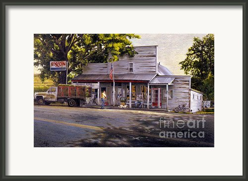 Yellow Sweater Freeman Store Framed Print By Craig Shillam