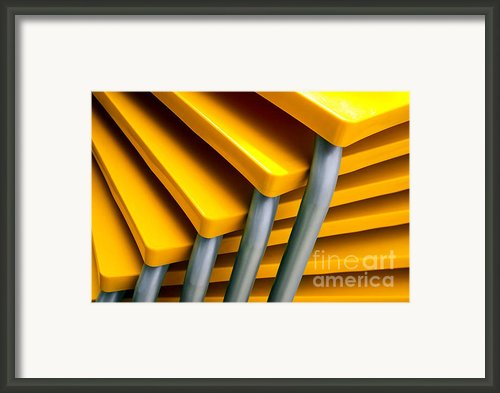 Yellow Tables Framed Print By Carlos Caetano