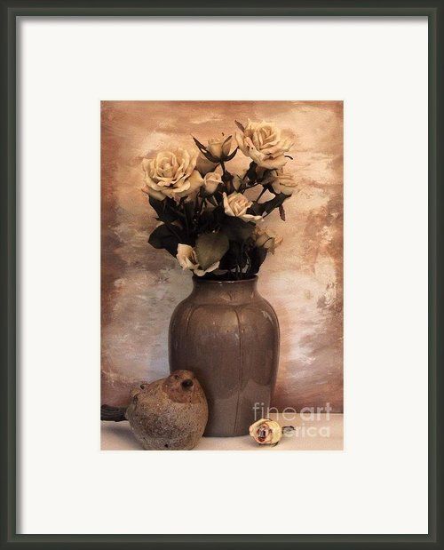 Yellow Tinted Roses Framed Print By Marsha Heiken