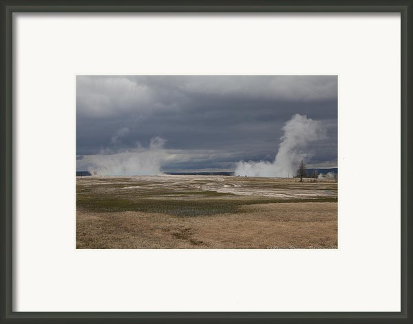 Yellowstone Geysers2 Framed Print By Charles Warren
