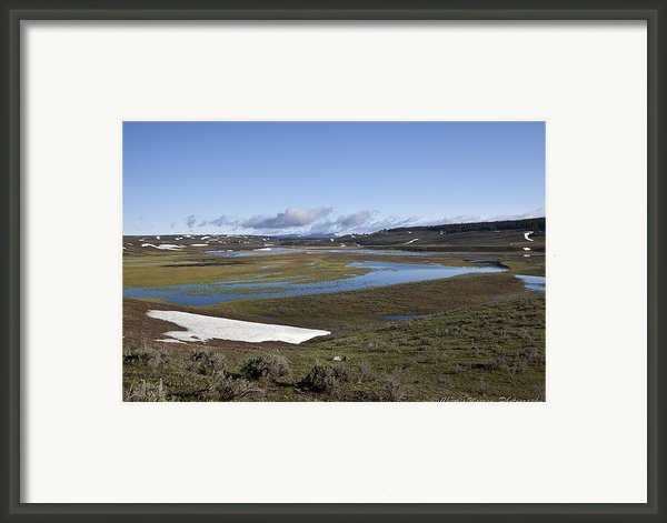 Yellowstone Plateau Framed Print By Charles Warren
