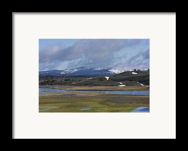 Yellowstone Vista 10 Framed Print By Charles Warren