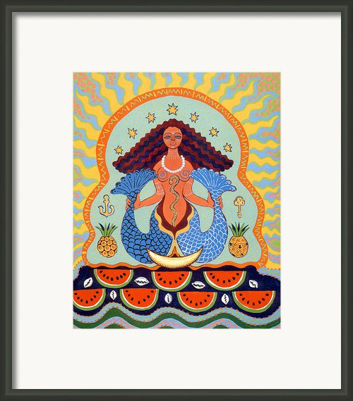 Yemaya Framed Print By Yolanda Fundora