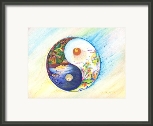 Yin Yang Spring And Autumn Framed Print By Gloria Di Simone
