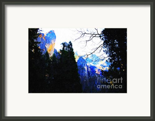 Yosemite Snow Top Mountains Framed Print By Wingsdomain Art And Photography