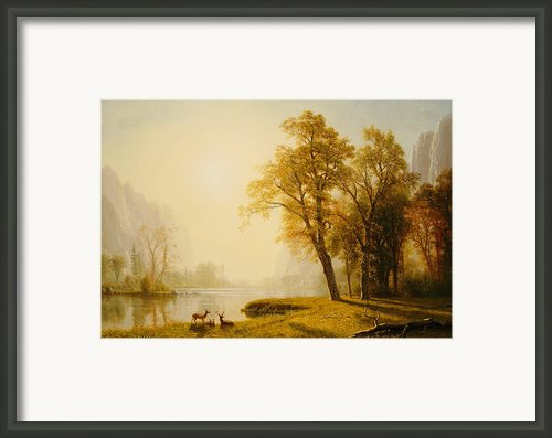Yosemite Valley Framed Print By Albert Bierstadt