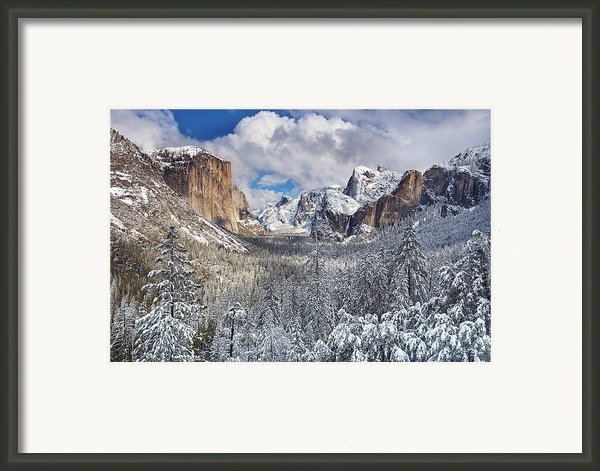 Yosemite Valley In Snow Framed Print By Www.brianruebphotography.com