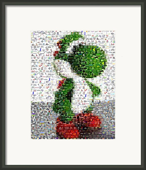 Yoshi Mosaic Framed Print By Paul Van Scott