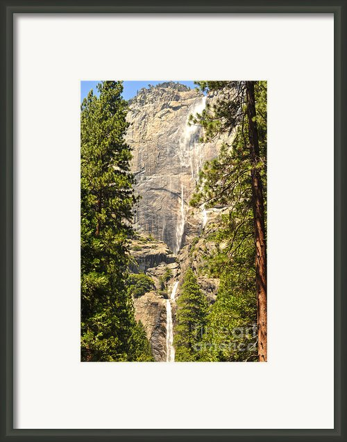 Yosimite Falls Summer Framed Print By Author And Photographer Laura Wrede