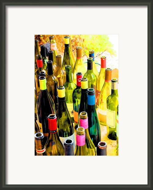 You Are Invited To A Wine Tasting... Framed Print By Margaret Hood