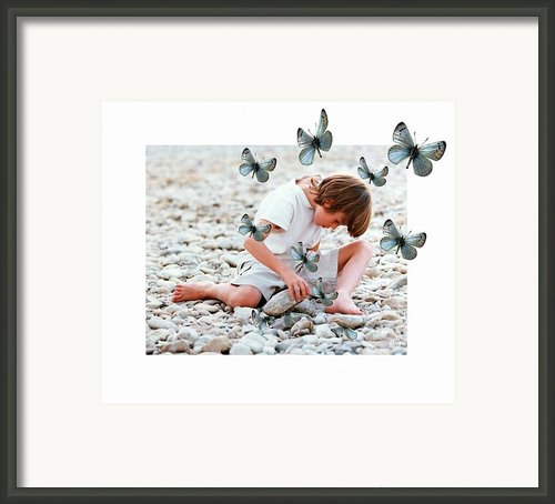 You Never Know What A Stone Can Hide Framed Print By Gun Legler