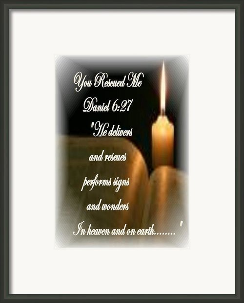 You Rescued Me Framed Print By Barbara Judkins-stevens