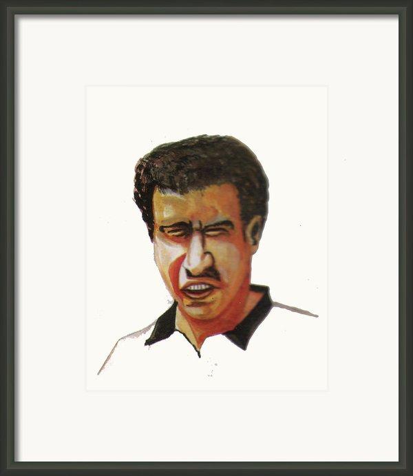 Younes El Aynaoui Framed Print By Emmanuel Baliyanga