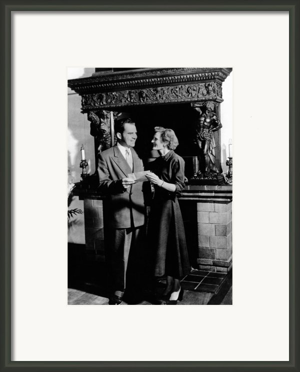 Young Attorney Richard Nixon Framed Print By Everett