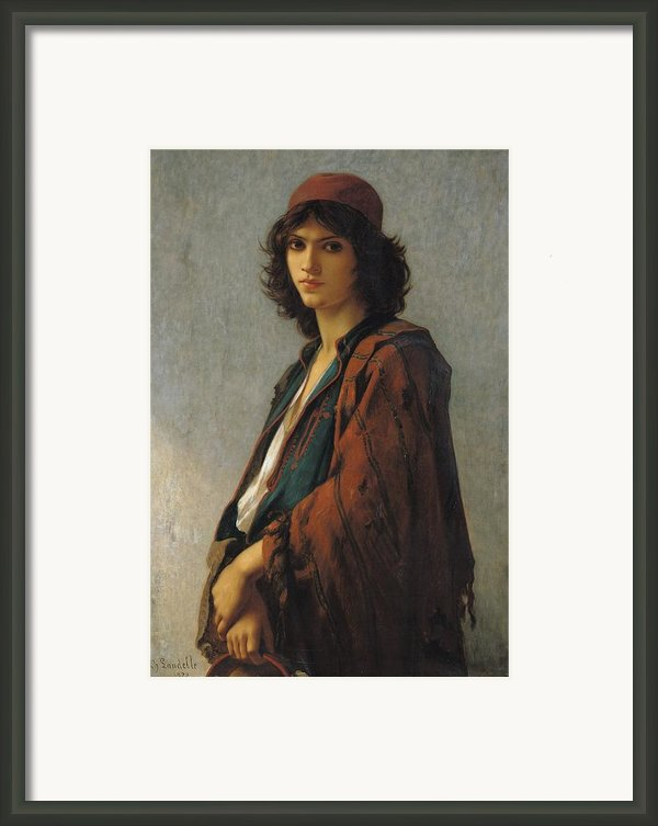 Young Bohemian Serb Framed Print By Charles Landelle