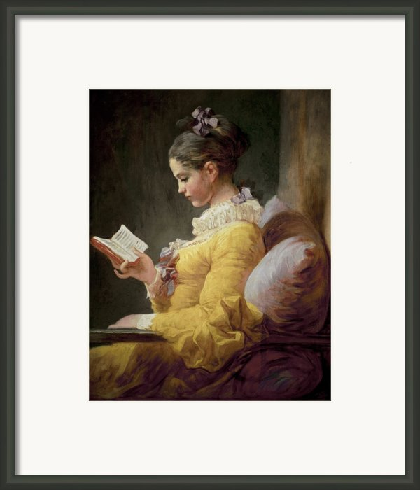 Young Girl Reading Framed Print By Jeanhonore Fragonard