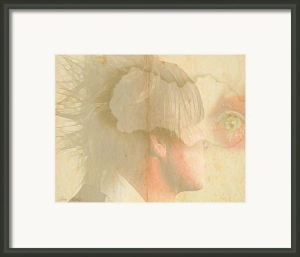 Young Man With A Vision Framed Print By Sabine Stetson