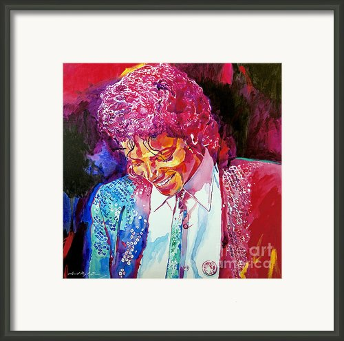 Young Michael Jackson Framed Print By David Lloyd Glover