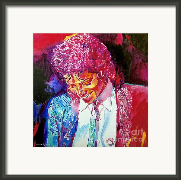 Young Michael Jackson Framed Print By David Lloyd Glover