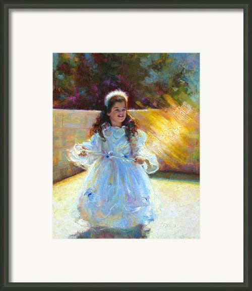 Young Queen Esther Framed Print By Talya Johnson