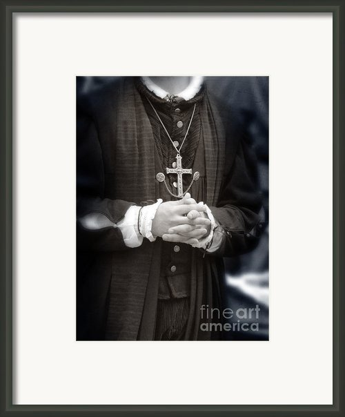 Young Renaissance Priest Framed Print By Jill Battaglia