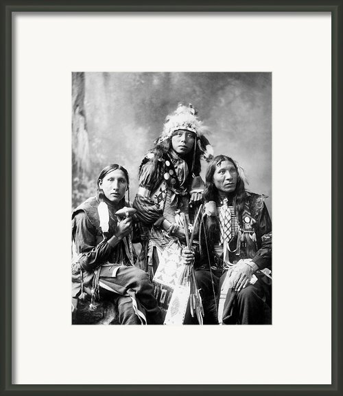 Young Sioux Men, 1899 Framed Print By Granger
