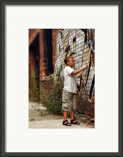 Young Vandal Framed Print By Gordon Dean Ii