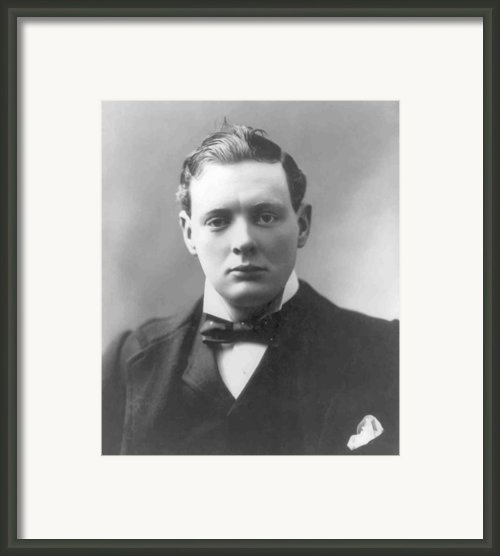 Young Winston Churchill Framed Print By War Is Hell Store