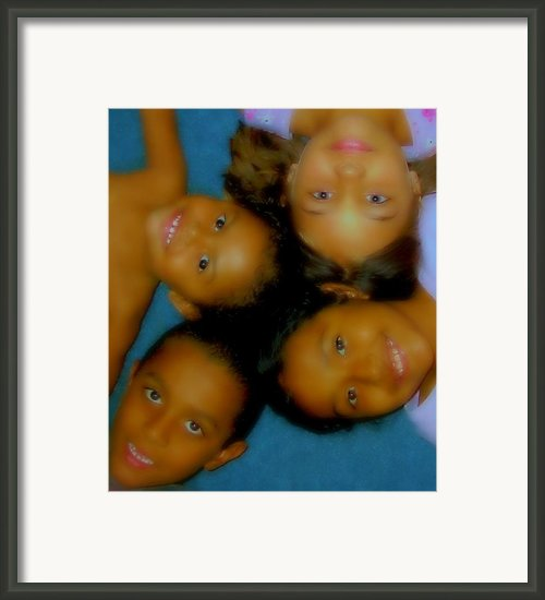 Youthful  Smiles Framed Print By Sherry Gombert