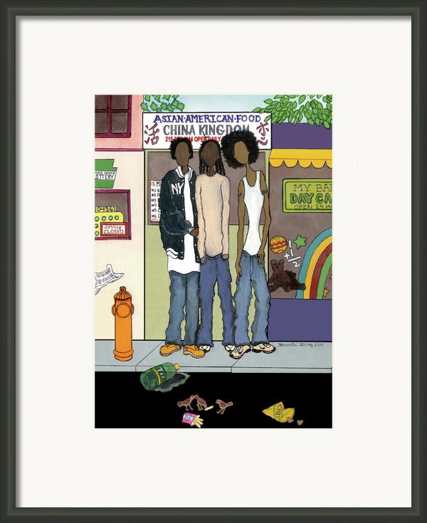 Z Hoody Boys Framed Print By Karen-lee