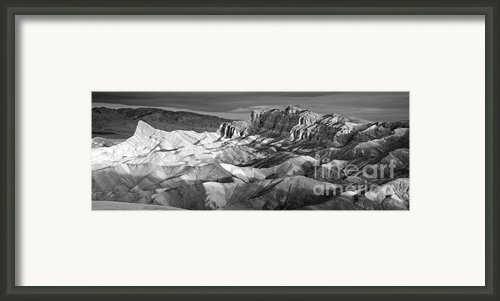 Zabriskie Point Panorama Framed Print By Jim Chamberlain
