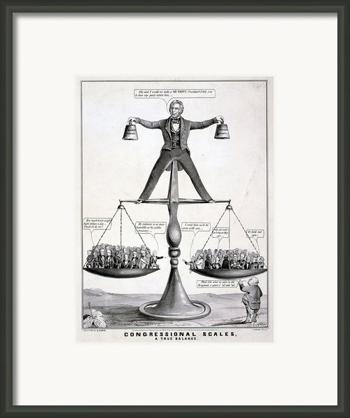 Zachary Taylor, Political Cartoon Framed Print By Everett