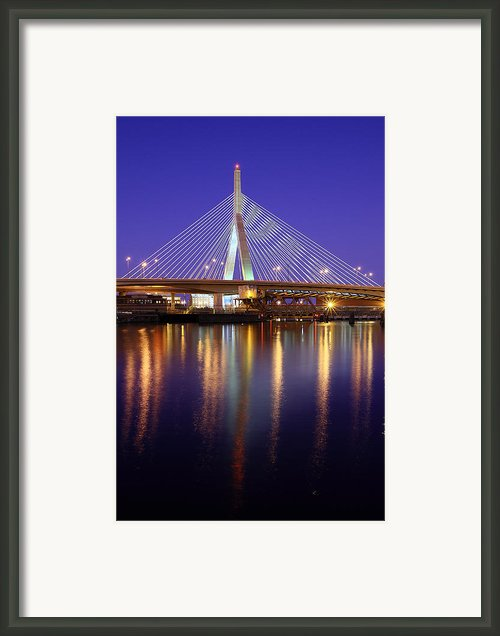 Zakim At Twilight Ii Framed Print By Rick Berk