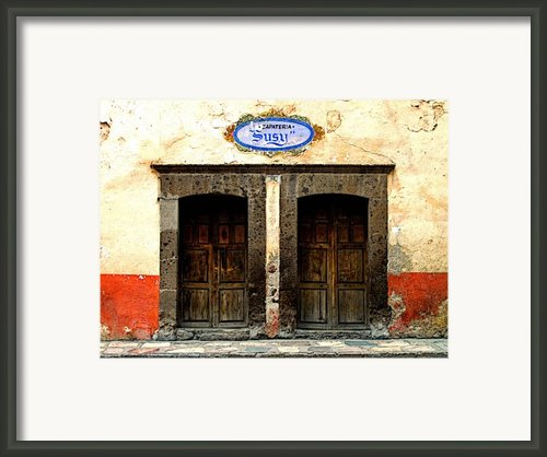 Zapateria Susy Framed Print By Olden Mexico
