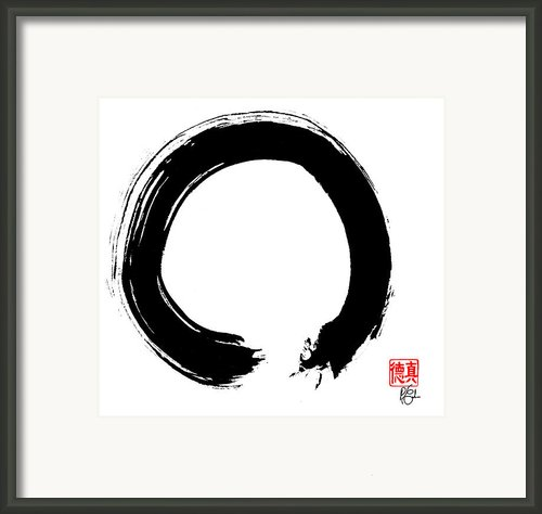 Zen Circle Five Framed Print By Peter Cutler