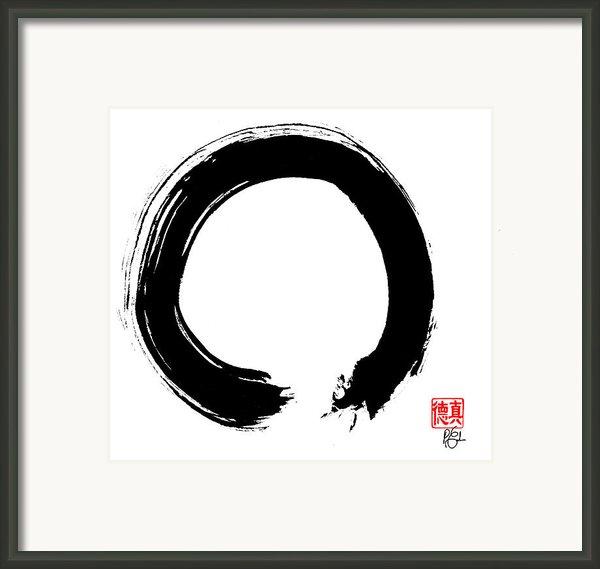 Zen Circle Five Framed Print By Peter Cutler