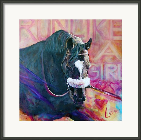 Zenyatta - Run Like A Girl Framed Print By Leisa Temple