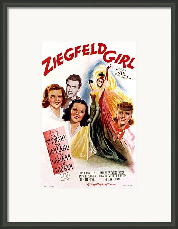 Ziegfeld Girl, Judy Garland, James Framed Print By Everett